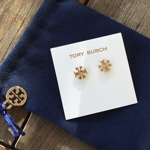 🛍Tory Burch Classic Stud Earrings 16k gold plated